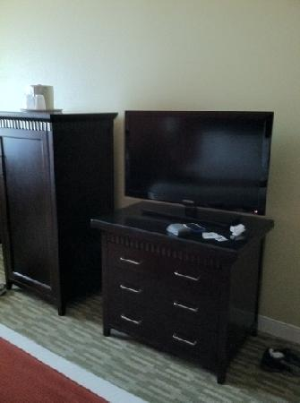 Holiday Inn Express: Flat Panel TV and Refrigerator