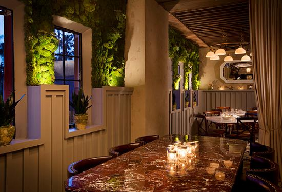 private dining area located in hollywood roosevelt's public