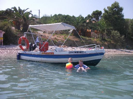 Alykanas Village Hotel: our boat
