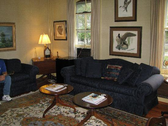 The Barnwell Inn: The first floor suite - sitting room.