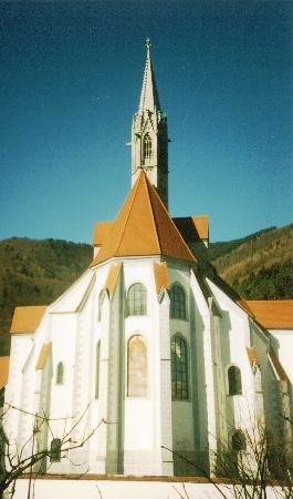 Hotel Kartause Gaming : The front of the Church
