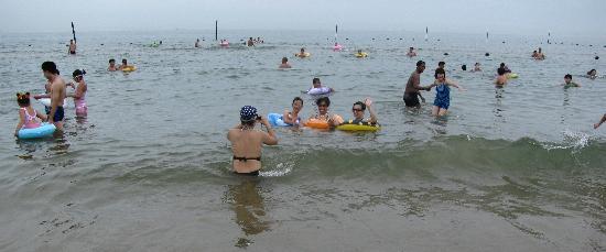 Tianjin Beach: wide beach view