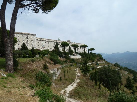 Cassino, Italy: View of the Abbey