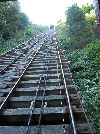 Johnstown, Pensilvanya: looking up the tracks