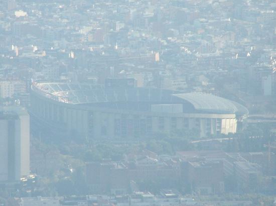 Torre de Collserola: Vista del Camp Nou
