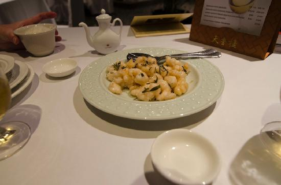 Tien Hsiang Lo : Shrimps with tealeaves