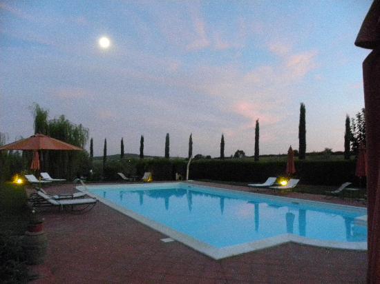 Ghiaccio Bosco: la luna al tramonto