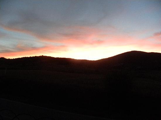 Ghiaccio Bosco: tramonto sui campi