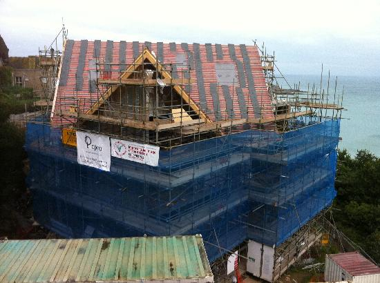 St. Ives Harbour Hotel & Spa : View of the adjacent building site