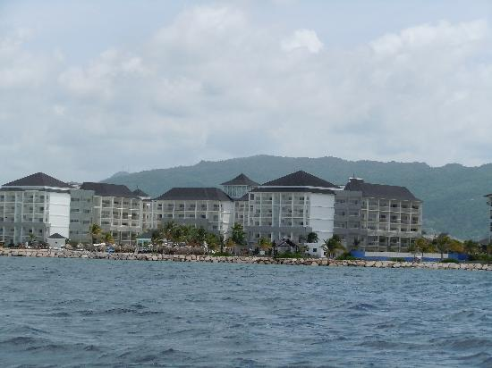 Secrets St. James Montego Bay: looking at resort from the ocean