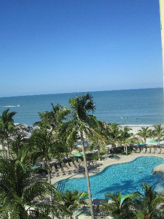 The Naples Beach Hotel & Golf Club: View from our balcony