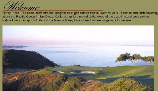 Best Western Premier Hotel Del Mar: Torrey Pines Golf Course - Golfing while viewing the Beautiful Pacific Ocean