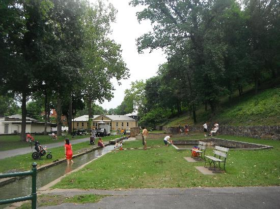 Berkeley Springs State Park: Part of the park with the massage building in the background