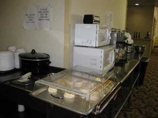 Ramada Oklahoma City Near Bricktown: Food Station for Breakfast, Bricktown hotel & Convention Center, Oklahoma City, OK
