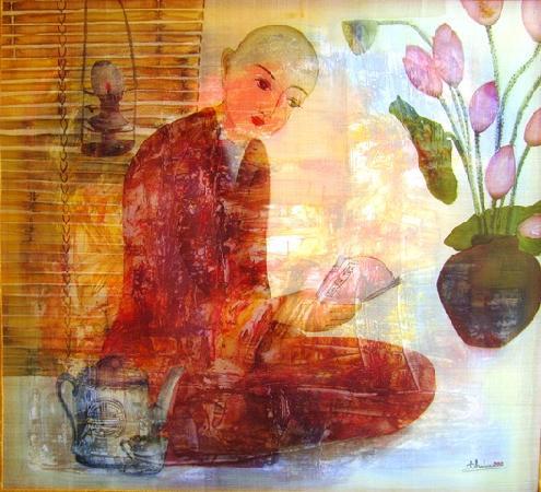 Thien Tam Vegetarian Restaurant: Painting in Restaurant