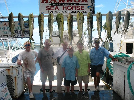 Sea Horse Private Charters: Whole crew with Catch!