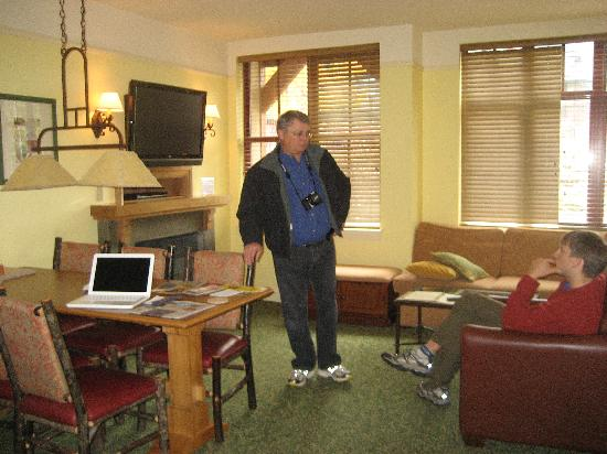 Marriott's Timber Lodge: My husband in our rooms