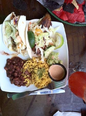 Nachos and Shrimp appetizers - Picture of The Hub Baja Grill, Siesta ...