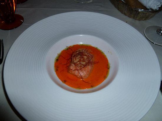 Arany Kaviár Restaurant: Salmon and Scallop