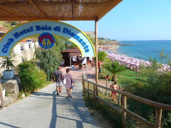Villaggio Mareneve: ingresso spiaggia