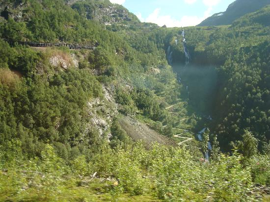 Fjord Tours: Where we're going back and forth on the way from Flam to Myrdal