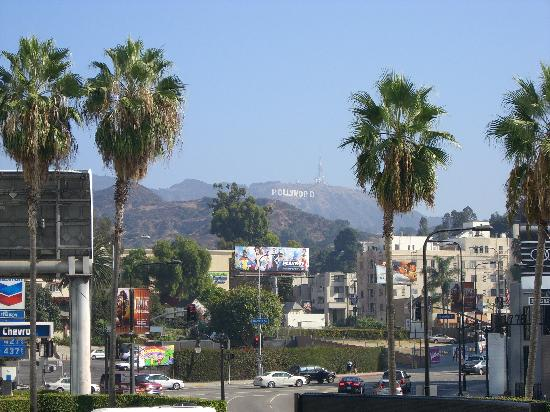 Los Angeles Urban Adventures: A shot of the Hollywood sign from next to the Kodak Theatre