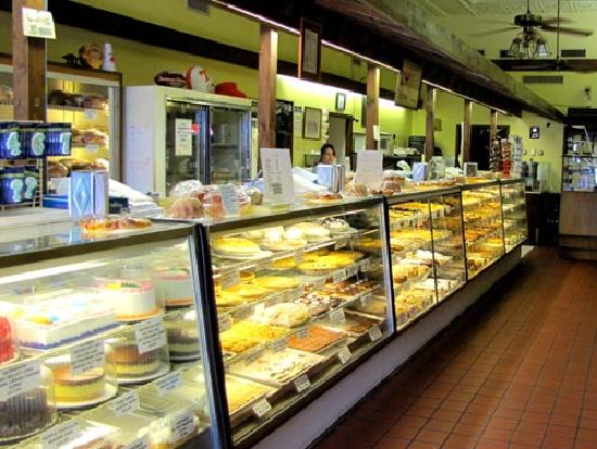 McFarlan Bakery: Pastries, cakes, cookies, and donuts on display