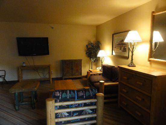 Denali Princess Wilderness Lodge: living Room area,room 266