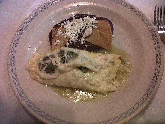 El Cardenal Centro Histórico: omelette de huauzontle