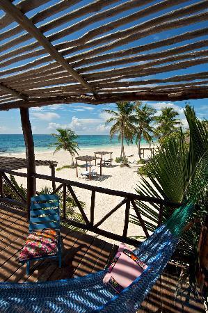 Tulum Hemingway Romantic Cabanas: Estrella Terrace