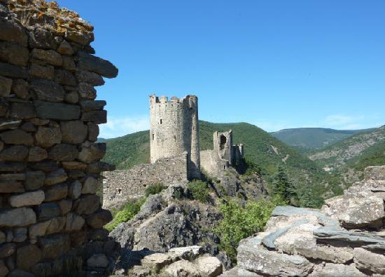 Sun Tour: View from the top of Chateau de Lastours