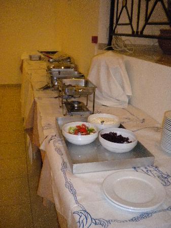 Evripides Village Hotel: IL BUFFET DELLA CENA