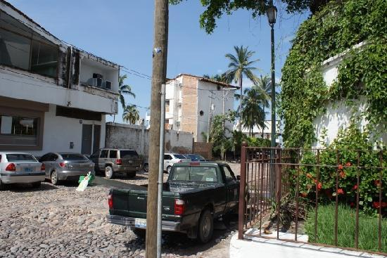 "Buenaventura Grand Hotel & Great Moments All Inclusive: this is the street on the south side of ""hotel"""