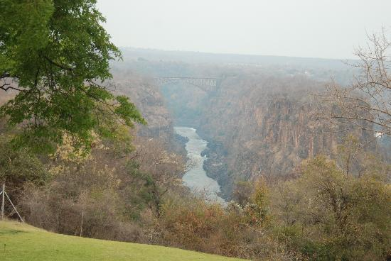 The Victoria Falls Hotel: The view from our room