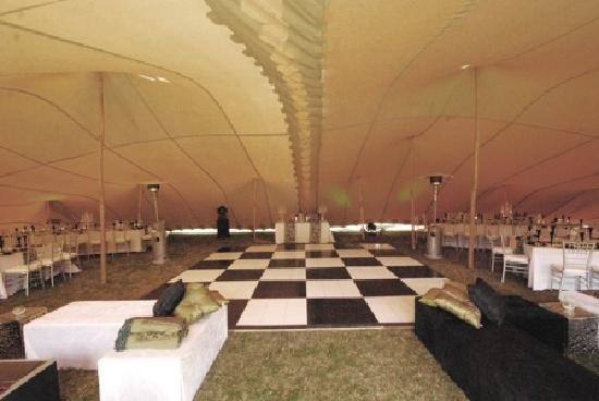 Thunzi Bush Lodge: Inside of Reception Tent