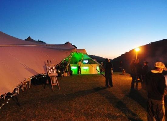 Thunzi Bush Lodge: Outside Reception Tent