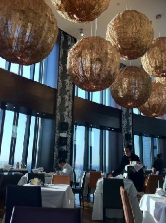 โรงแรมยูโรสตาร์ส มาดริดทาวเวอร์: Desayuno en planta 30