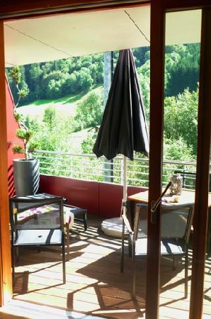 "Hotel Walliserhof: Terrasse ""Suite Brügga"""
