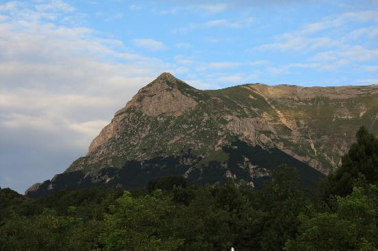 Montegallo, Italy: Monte Vettore visto dal Campeggio