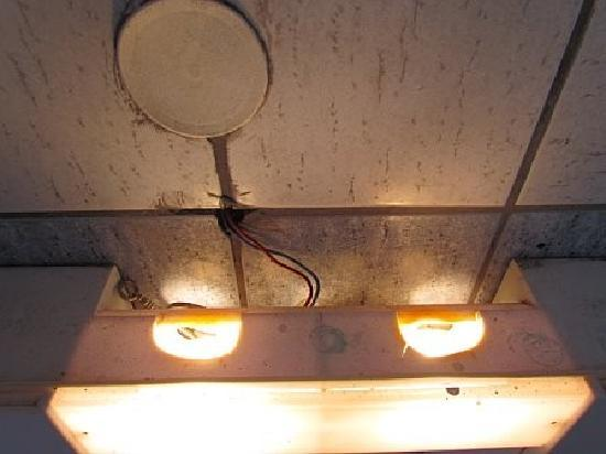 Joanna Hotel Apartments: exposed wires in bathroom