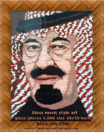 Fayazee Rehamin Art Gallery: glass mosaic artist shahzad alam 03022696437