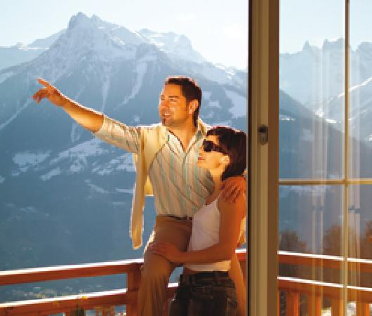 Ferienhotel Fernblick: Blick in die Berge Montafons