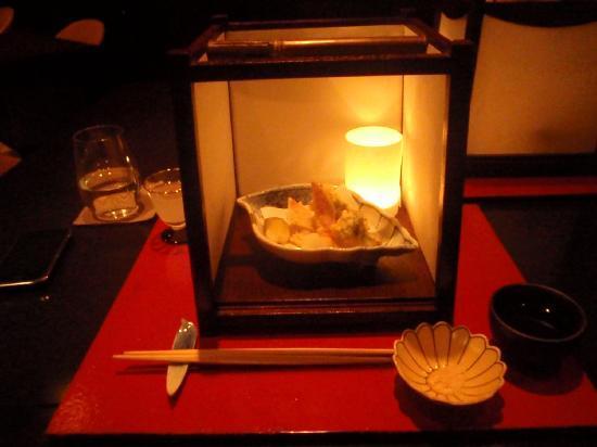 Rosanjin: Presentazione tempura mista...