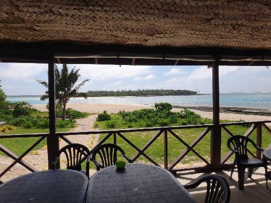 Matafonua Lodge: View from the restaurant