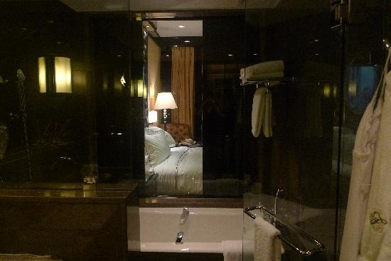 Fairmont Nile City: you can see the room from the bathroom if you want