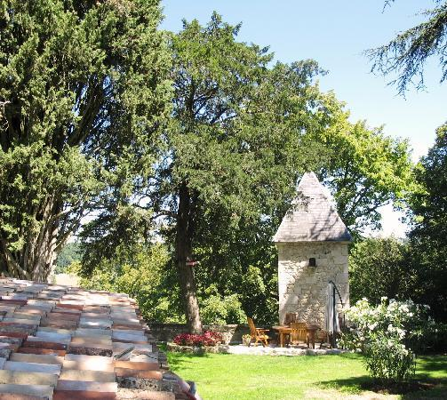 Domaine de Pine: Lunch can be served in the shady garden
