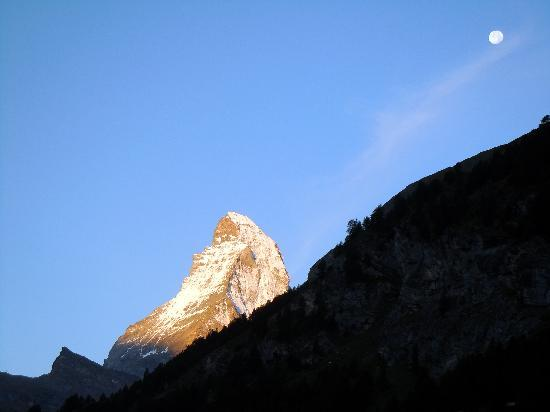 Le Mirabeau Hotel & Spa Zermatt: The Matterhorn from our room on our first morning