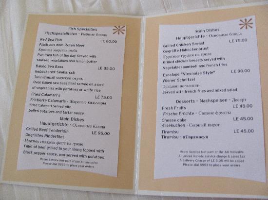 Iberotel Palace: menu3