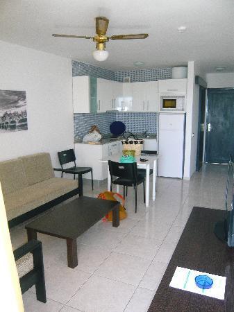Portonovo Apartments: living room/kitchen