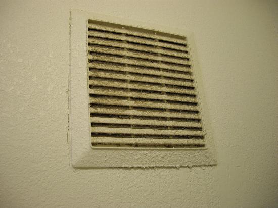 Rodeway Inn & Suites: Bathroom Fan Filter